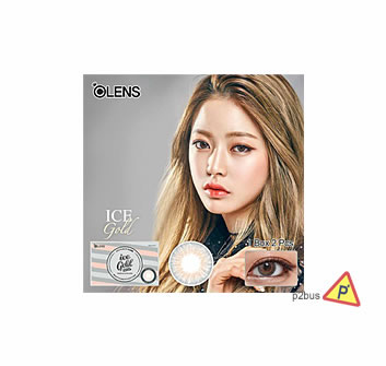 OLENS 3CON Monthly Color Contact Lenses #Ice Gold